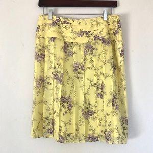 NWT Banana Republic floral silk pleated skirt